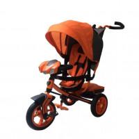 Детский 3-х колёсный велосипед L3O Lamb Egoist 12-10 надувные колеса,оранж LCD дисплей