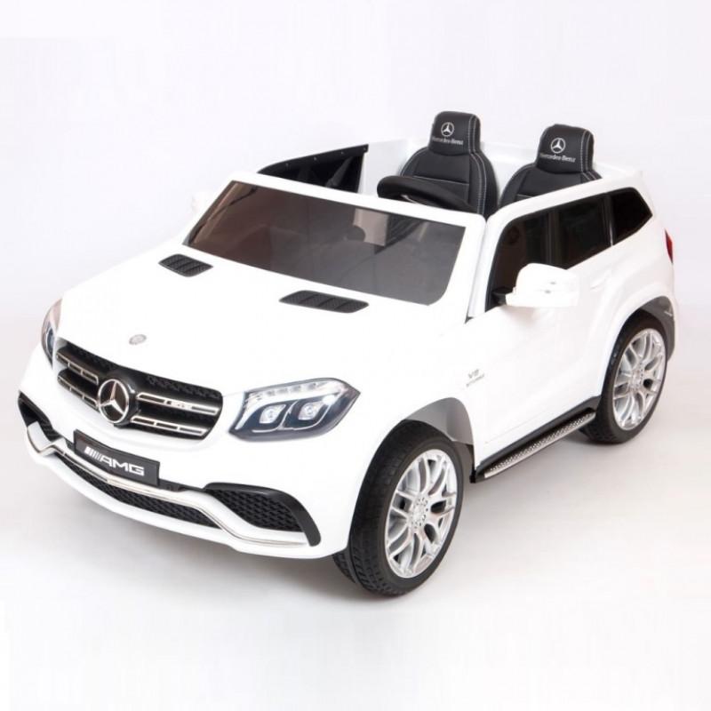 Электромобиль детский Mercedes-Benz GLS63 4WD 41596 белый  24в р-у кож 131*70*  (P)