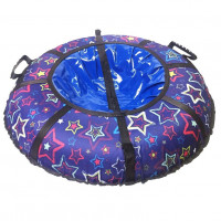 Тюбинг  CH- 75-ГЛАМУР-Звёзды фиолетовый,1/10 с мягкими ручками,с замком,со светоотражателями,цена с камерой д=75см new