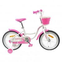 Велосипед 16 TT Merlin белый/розовый (АЛЮМИНИЙ-облегчённая рама)