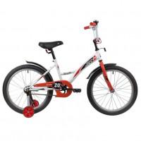 Велосипед 20  Novatrack Strike WTR20  белый/красный