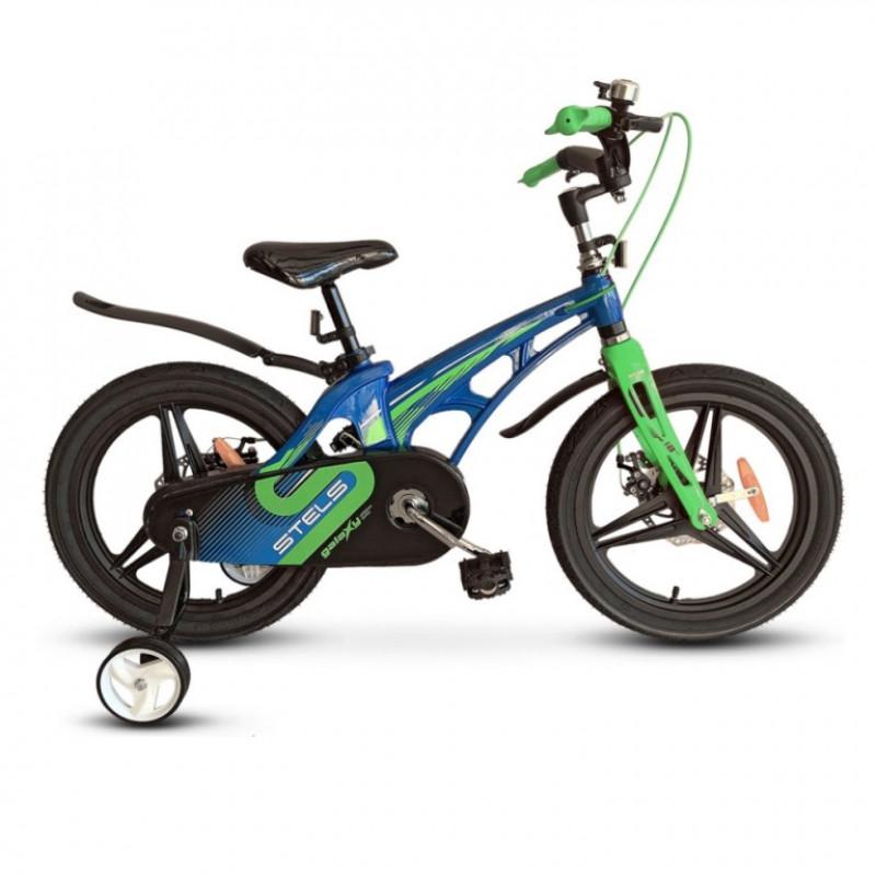 Велосипед 14  Stels  Galaxy Pro V010 синий/зелёный 2021
