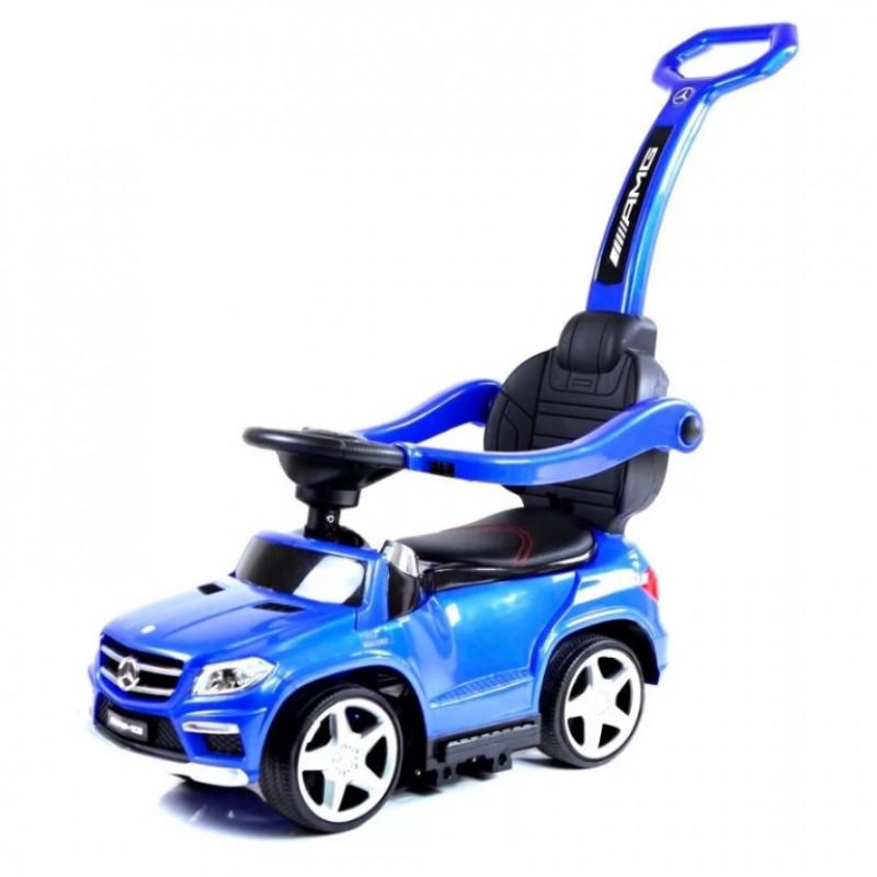 Каталка Mercedes с ручкой синий 49111