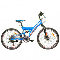 Велосипед 24 Nameless V4200D-BL/RD(21), синий/красный