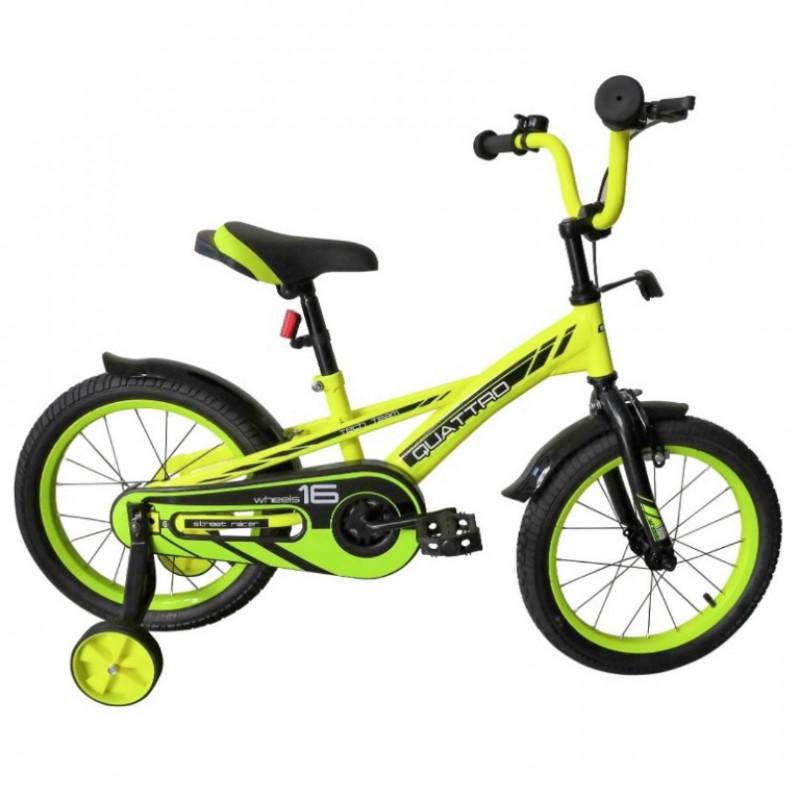 Велосипед 12  TT Quattro неоновый зелёный