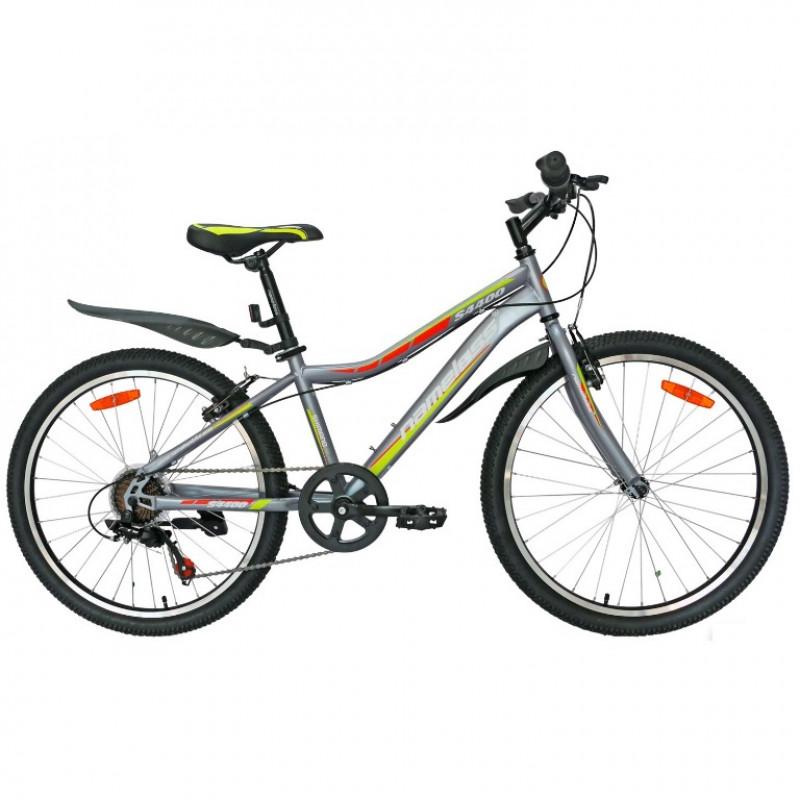 Велосипед 24 Nameless S4400D-GR/YL-13(21), серый/жёлтый