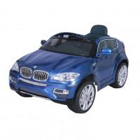 Электромобиль детский BMW X6 45546  (Р)синий глянец