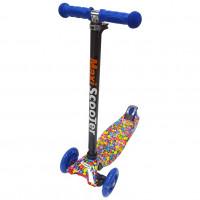 Самокат Scooter Maxi Print TJ-701P Цветы бело-зелёный 1/6