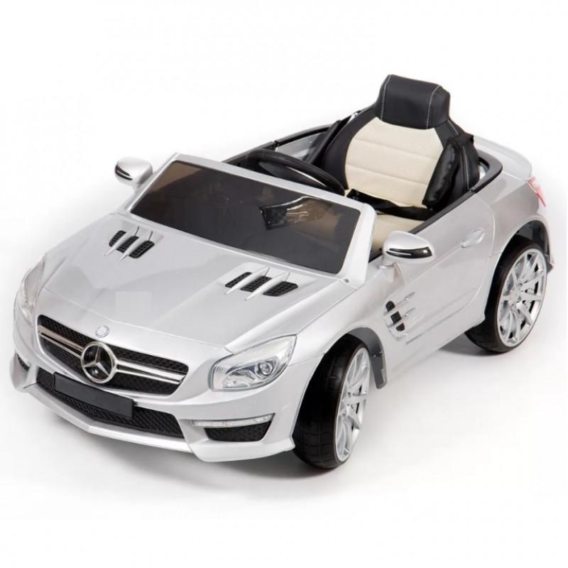 Электромобиль детский Mercedes-Benz SL63 AMG 45485 (Р)  серебро глянец