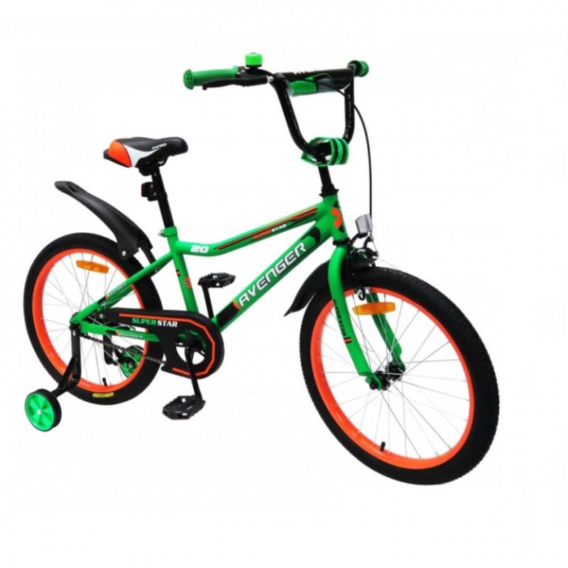Велосипед 16  AVENGER SUPER STAR, C16S-GN/BK зелёный/чёрный АКЦИЯ!!!