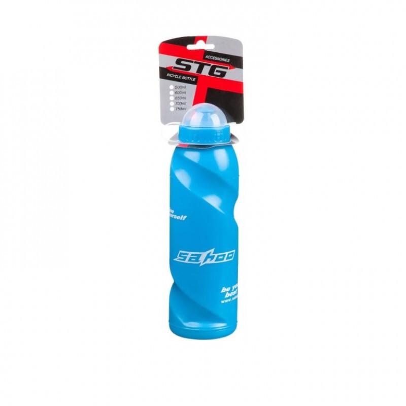 Велофляга STG  700ML  голубая с крышкой