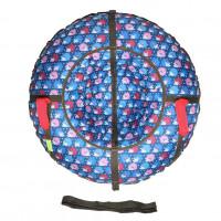 Тюбинг  CH-110-ПРИНТ- Ежики голубые с мягкими ручками,с замком,со светоотражателями,цена с камерой д=110см new 1/10