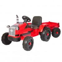 Детский электромобиль трактор TR 55,  50631 с прицепом красный (Р)