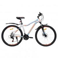 Велосипед 27,5  AVENGER C275D-GR/BLN-17.5(21), серый/синий неон
