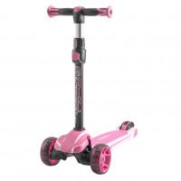 Детский самокат Tech Team SURF GIRL 2020 (розовый) со светящимися колесами 1/4 (Р)