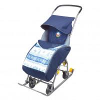 Санки коляска комбинированная «Тимка 1 универсальная» синий Т1У