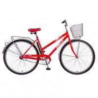 Велосипед 28 Foxx  SHL.Lady Fiesta.RD0 крас.+дор. корзина