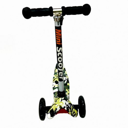 Детский самокат Scooter Mini print TJ702P Хаки зелёный 1/6