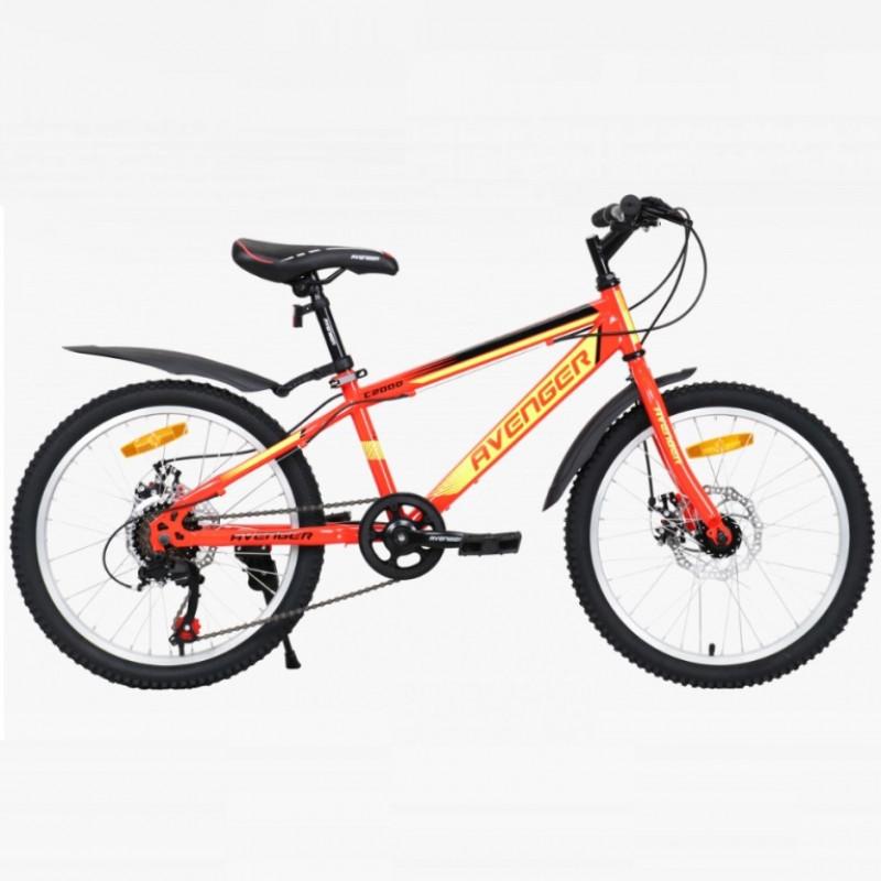 Велосипед 20 Avenger C200D-RD/YLN-11(21) красный/жёлтый неон АКЦИЯ!!!