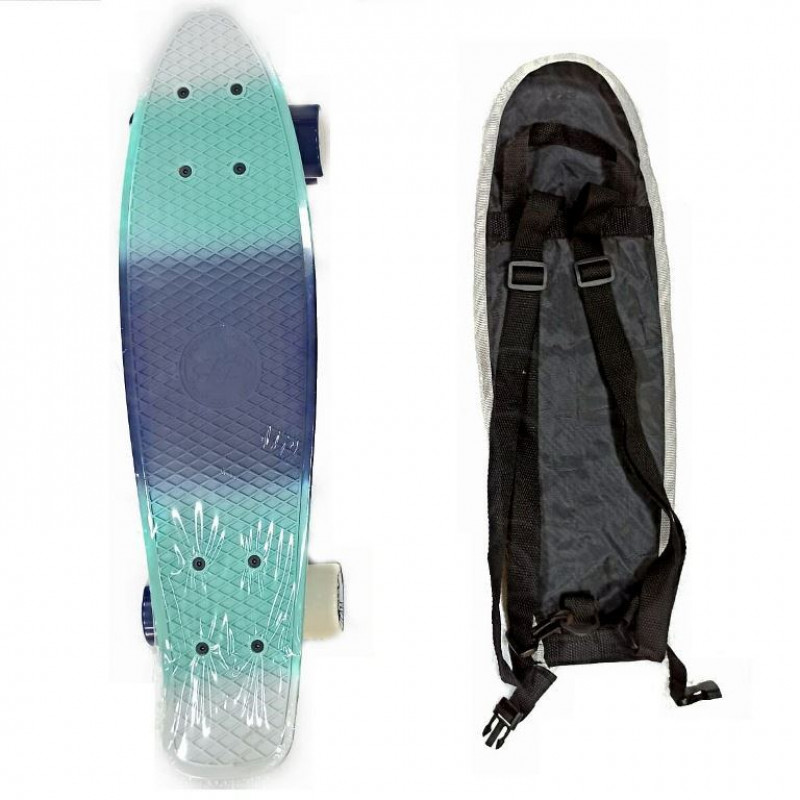 Скейтборд  ТТ Multicolor 22 blue/sea blue 1/4 TLS-401M