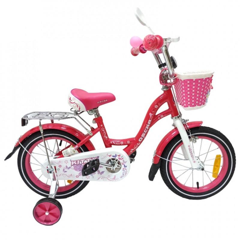 Велосипед 12 OSCAR KITTY розовый/белый  АКЦИЯ!!!