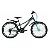Велосипед 24 Novatrack SH18V.Valiant.10BK9 чёрн. 18ск.