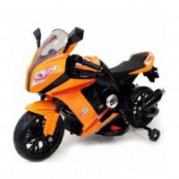 Электромотоцикл детский M111ММ оранж Колеса: каучук  99*41*65