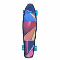 Скейтборд  Explore Ecoline GLAS/6 пластиковый Абстракция колесо синийе