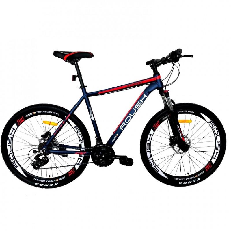 Велосипед 27,5 Roush 27HD210 AL PRO-1 синий/красный матовый