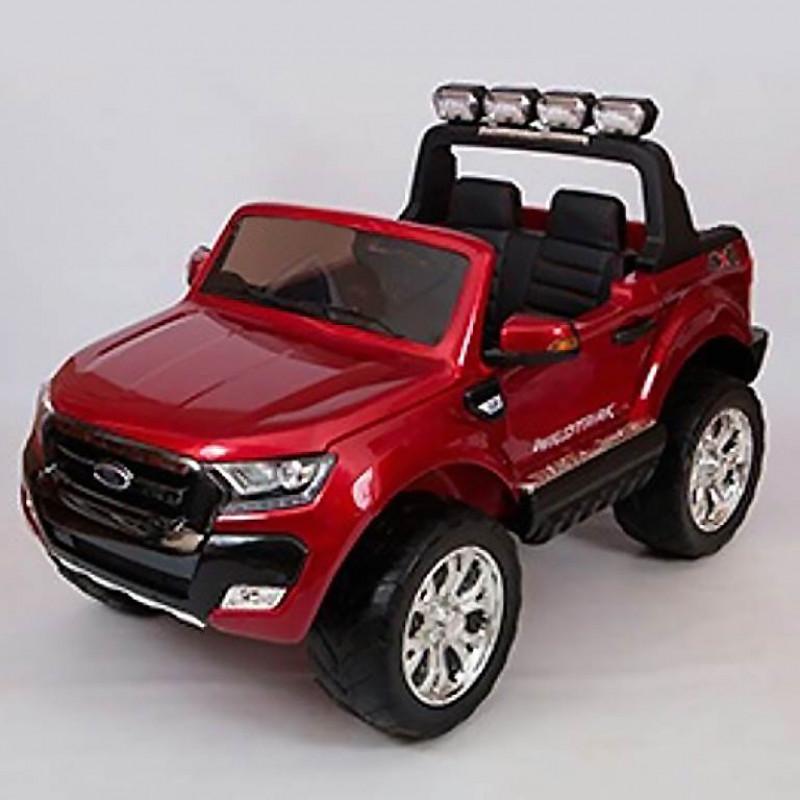 Электромобиль детский Ford Ranger F650 45438 (Р) с монитором, Полный привод,  (Лицензионная модель) вишневый глянец