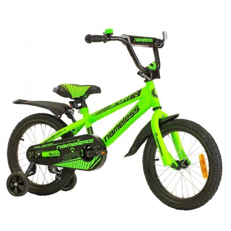 Велосипед 20 Nameless Sport, зеленый/черный