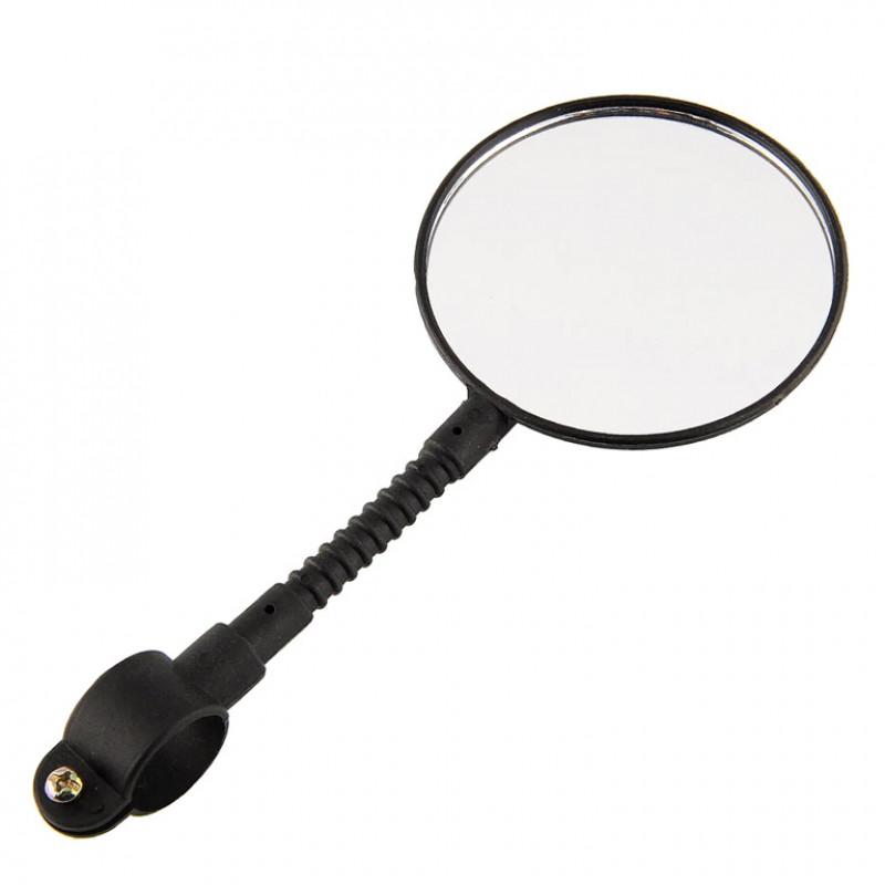 Зеркало заднего вида с отражателем  на наружной стороне   ( пластмассовая  гибкая  стойка) модель JY-3(индив.упак.) №5.