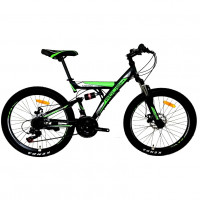 Велосипед 24 Roush 24MD100-3 зелёный матовый
