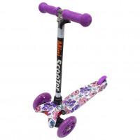 Детский самокат Scooter Mini print TJ702P Джунгли фиолетовый 1/6