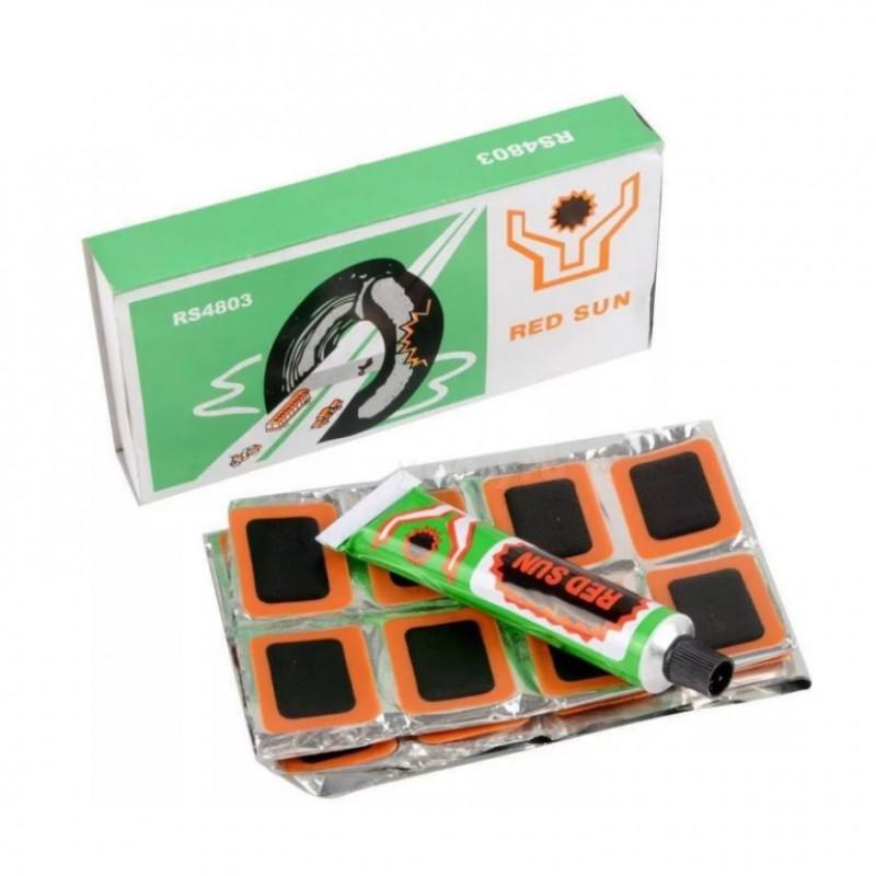 Велоаптечка RS-4803 (клей заплатки в комплекте) в коробке (X95603)