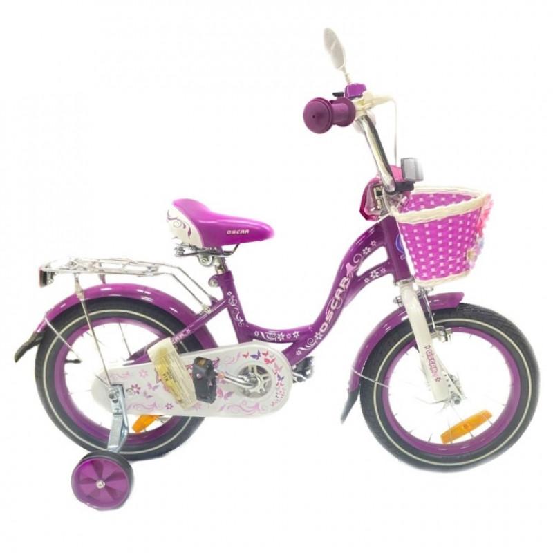 Велосипед 14 OSCAR KITTY фиолетовый/белый