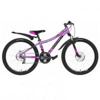 Велосипед 24 Novatrack AHD.KATRINA.12GVL20  фиолетовый