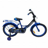 Велосипед 18 OSCAR TURBO Black-Blue (черный/синий) 2021