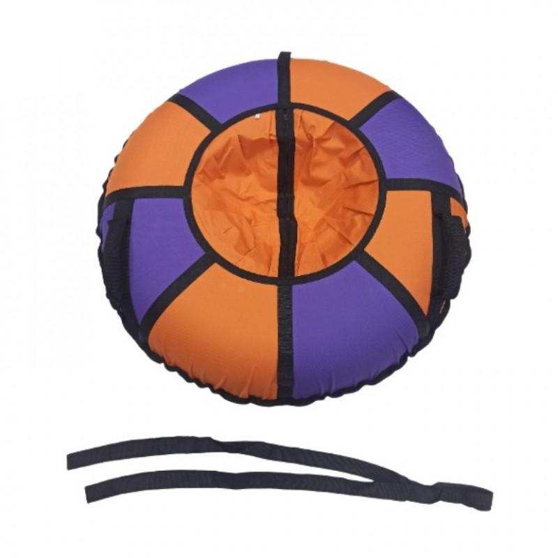 Тюбинг  CH- 85-ТО цвет N04 оранжевый/фиолетовый ,цена с камерой д=85см 1/5