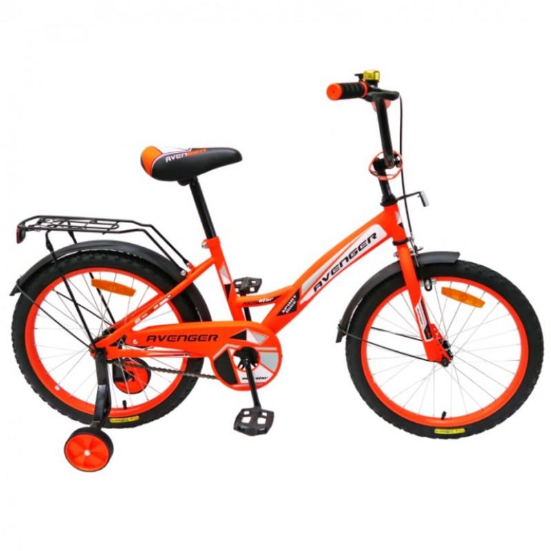 Велосипед 18  AVENGER NEW STAR, оранжевый/чёрный