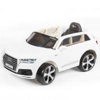 Электромобиль детский Audi Q7 Quattro LUX 45415 (Р) белый, глянцевый