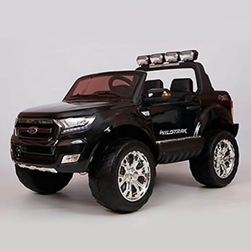 Электромобиль детский Ford Ranger F650 45440 (Р) с монитором, Полный привод,  (Лицензионная модель) черный глянцевый