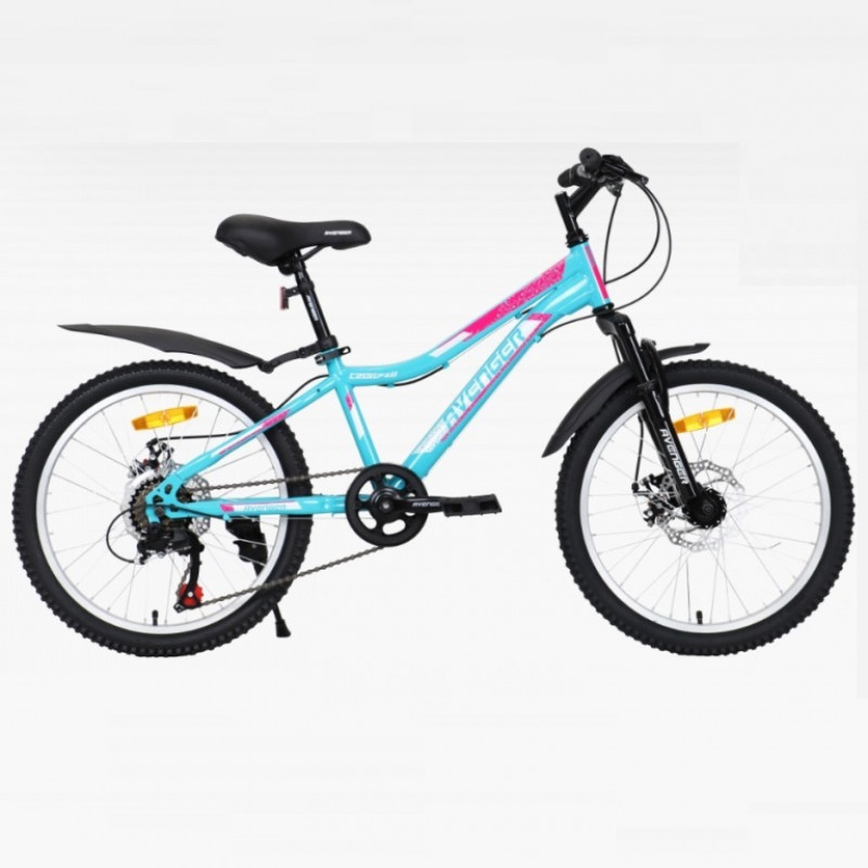 Велосипед 20 Avenger C201DW-GN/PN-11(21) зелёный/розовый АКЦИЯ!!!
