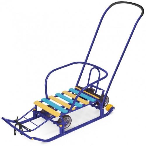Санки «Тимка 5 универсал» с больш. колесом синий