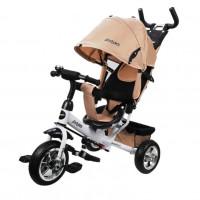 Детский 3-х колёсный велосипед 641223  Comfort 10*8 EVA, бежевый