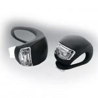 Фонари мягкое крепление, пластик, 2 светодиода, черн.,(2шт.в 1 упак.)