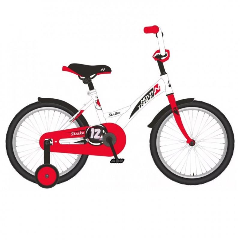 Велосипед 12 Novatrack Strike белый-красный,   АКЦИЯ!!!