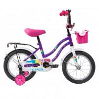Велосипед 14 Novatrack Tetris.VL20  фиолетовый  АКЦИЯ!!!