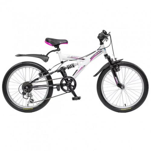 Велосипед 20 Novatrack SS6V.DART.WT20  6ск. белый