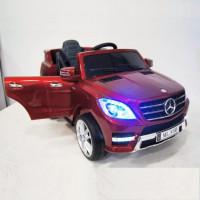 Электромобиль детский Mercedes-Benz ML350 38057 вишневый глянец, 12в,кожанный салон,р-у